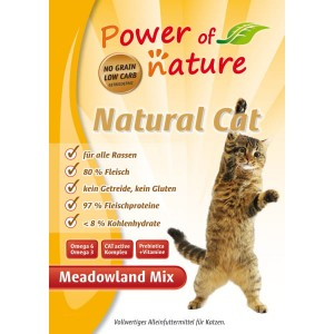 Power of Nature Natural Cat Meadowland mix - kurczak, indyk, łosoś 7,5 kg