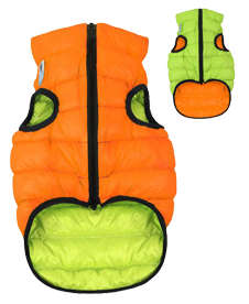Kurteczka dwustronna Airy Vest orange/lime