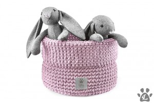 Kosz na zabawki PlayTime Dusty Pink Recycled Cotton