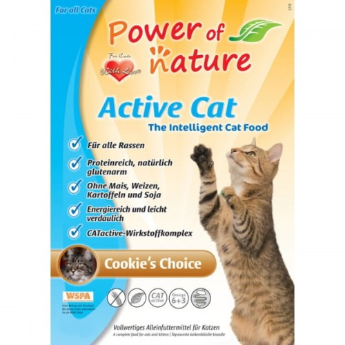 Active Cat Cookie's Choice - kurczak, brązowy ryż - 2 kg