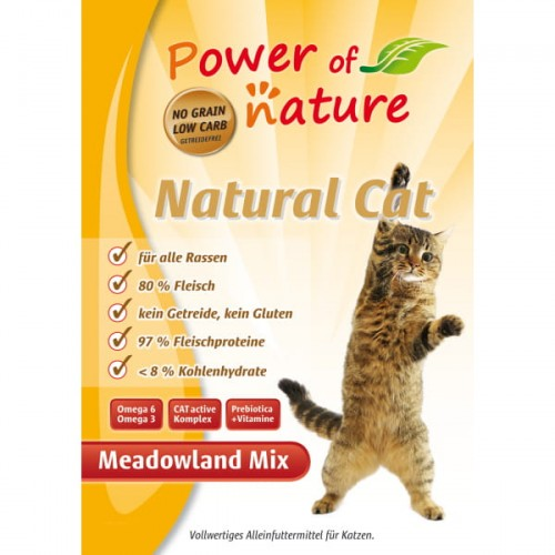 Power of Nature Natural Cat Meadowland mix - kurczak, indyk, łosoś 2 kg